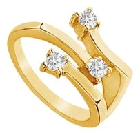 LoveBrightJewelry Cubic Zirconia Ring 18K Yellow Gold Vermeil 0.50 CT CZs