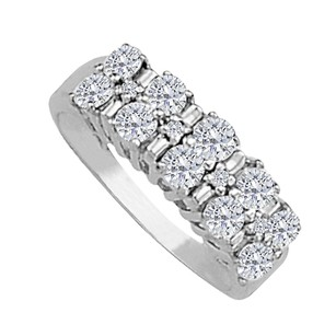 LoveBrightJewelry Cubic Zirconia Total Weight Ring in 925 Sterling Silver