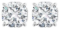 LoveBrightJewelry CZ Antique Square 4 Prong 925 Sterling Silver Earrings