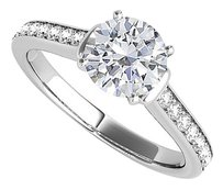 LoveBrightJewelry CZ Ring Styled in 925 Sterling Silver with Elegance