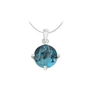 LoveBrightJewelry December Birthstone Blue Topaz In Sterling Silver Pendant