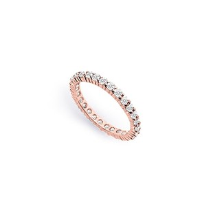 LoveBrightJewelry Diamond Eternity Bands In 14k Rose Gold 1 Ct Tdw Anniversary Band Diamond Wedding Bands
