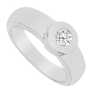 LoveBrightJewelry Diamond Ring 14K White Gold 0.25 CT Diamonds