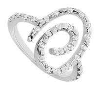 LoveBrightJewelry Diamond Ring 14K White Gold 0.50 CT TGW