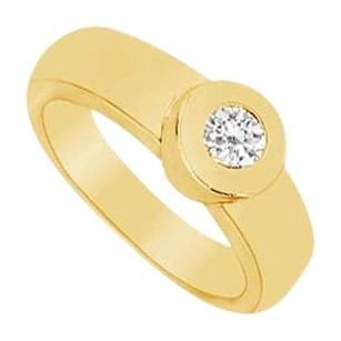 LoveBrightJewelry Diamond Ring 14K Yellow Gold 0.25 CT Diamonds