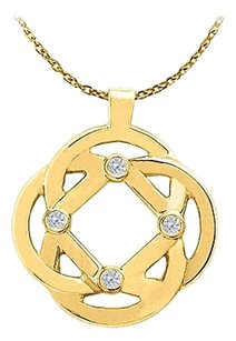 LoveBrightJewelry Differently Designed 18K Yellow Gold Vermeil Gorgeous Pendant with Attached Free 16 Inch Chain