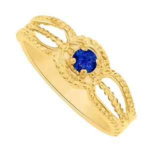 LoveBrightJewelry Fabulous Sapphire Wedding Ring in 14K Yellow Gold