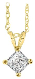 LoveBrightJewelry Free Chain and Happiness with Diamond Solitaire Pendant