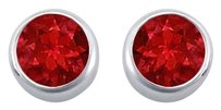 LoveBrightJewelry GF Bangkok Ruby Bezel Set Stud Earrings 925 Sterling Silver 2.00 Carat Total Gem Weight