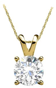 LoveBrightJewelry Go Romantic with Real Diamond 14K Yellow Gold Pendant