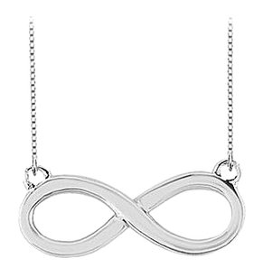 LoveBrightJewelry Infinity Pendant in Rhodium Plating 925 Sterling Silver