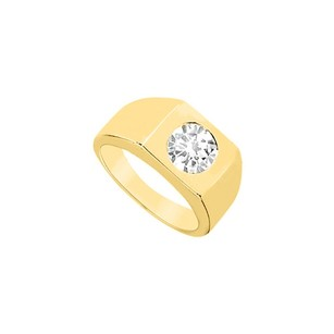 LoveBrightJewelry Mens Diamond Ring 14k Yellow Gold 0.25 Ct Diamonds