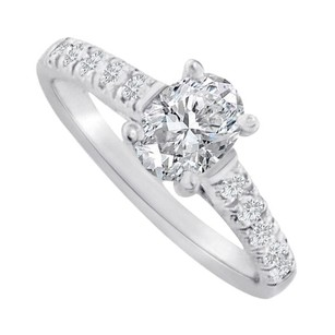 LoveBrightJewelry Oval Cz Accent Ring In Sterling Silver 1.5 Ct Tgw