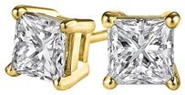 LoveBrightJewelry Own Natural Diamond Stud Earrings in 14K Yellow Gold