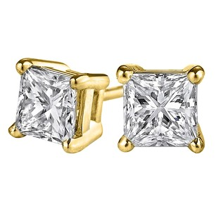 LoveBrightJewelry Own Princess Cut Real Diamond Studs at Amazing Price