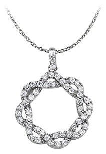 LoveBrightJewelry Perfectly Designed Cubic Zirconia Pendant 925 Sterling Silver with Cute Free 16 Inch Chain