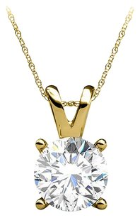 LoveBrightJewelry Real Diamond 14K Yellow Gold Pendant Perfect Jewelry