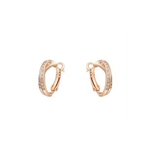 LoveBrightJewelry Rose Gold Vermeil Cross Clip on Earrings for Women