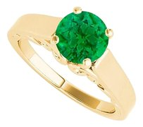 LoveBrightJewelry Solitaire Emerald Engagement Ring Yellow Gold Vermeil