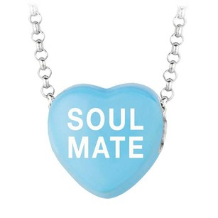 LoveBrightJewelry Soul Mate Blue Heart Pendant Necklace Valentine Day Sweethearts Jewelry Collection