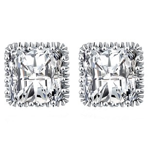 LoveBrightJewelry Square Design Cubic Zirconia Stud Earrings For Women