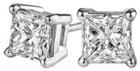 LoveBrightJewelry Square Natural Diamond Stud Earrings in 14K White Gold