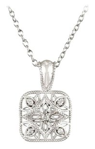LoveBrightJewelry Sterling Silver 0.05 CT TW Diamond 18 Inch Necklace