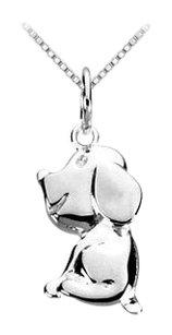 LoveBrightJewelry Sterling Silver Charming Animal Dog Charm Pendant