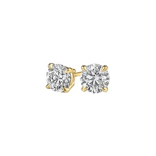 LoveBrightJewelry Surprise Her with Natural Diamond Studs in Yellow Gold