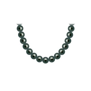 LoveBrightJewelry Tahitian Pearl Necklace 18K Yellow Gold 10.00 12.00 MM