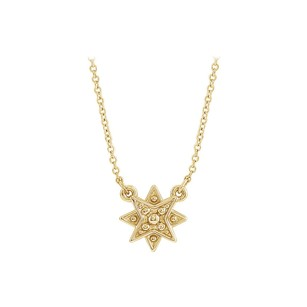 LoveBrightJewelry Yellow Gold Vermeil Star Necklace with Matching Chain