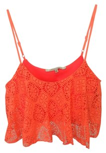Lovers + Friends Top Coral Orange