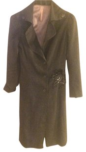 Loy and Ford Trench Long Sequin Silk Trench Coat