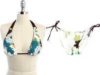 L*Space Floral O-Ring Halter Top & Side-Tie Bottom