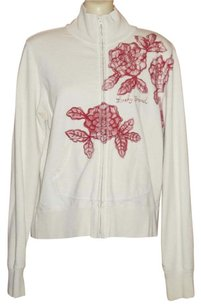 Lucky Brand French Terry Zip Up Floral Sweatshirt