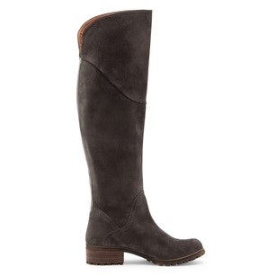 Lucky Brand Harleen Over The Knee Gray Boots