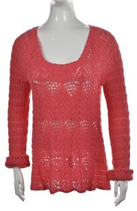 Lucky Brand Lucky Womens Scoop Neck Cotton Loose Knit Sweater