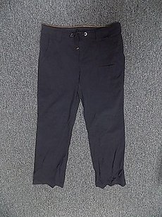 lucy Lucy Black Thin Drawstring Straight Leg Nylon Blend Athletic Pants 132a