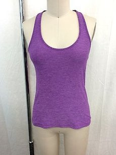 Lululemon Lululemon Athletica Heathered Purple Racer Back Tank Top