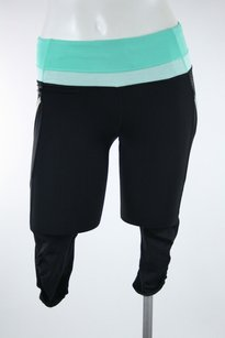 Lululemon Lululemon Black Mint Green Run A Marathon Crop Pants