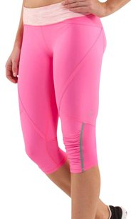 Lululemon Lululemon Run Pace Crop Pinkelicious / Wee Are From Space Parfait Pink