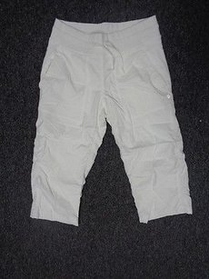 Lululemon Lululemon White Stretchy Lined Athletic Cargo Capri Pant Sm2118