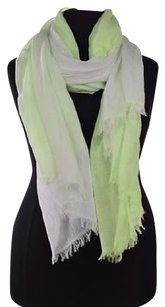 Lululemon Lululemon Womens Lime Green Scarf Os Ombre Striped Cotton Casual