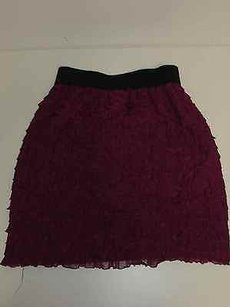Lush Polyester Spandex Skirt Purple