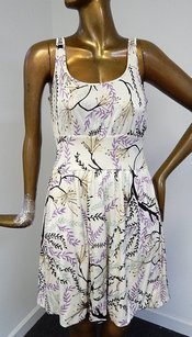 M Missoni short dress Beige 100 Silk Floral on Tradesy