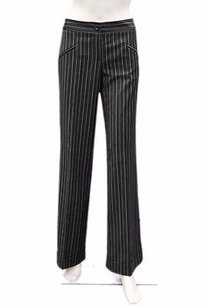 Mac & Jac Black White Pinstripe Pants
