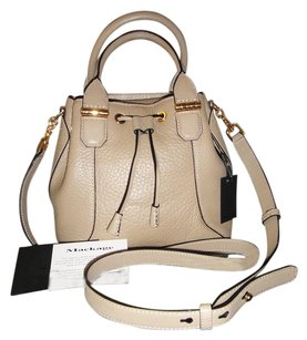 Mackage Leather Loryn Beige Shoulder Bag