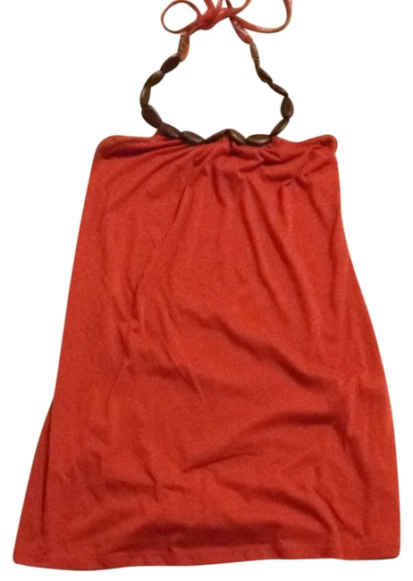Macy's short dress Dark Orange on Tradesy