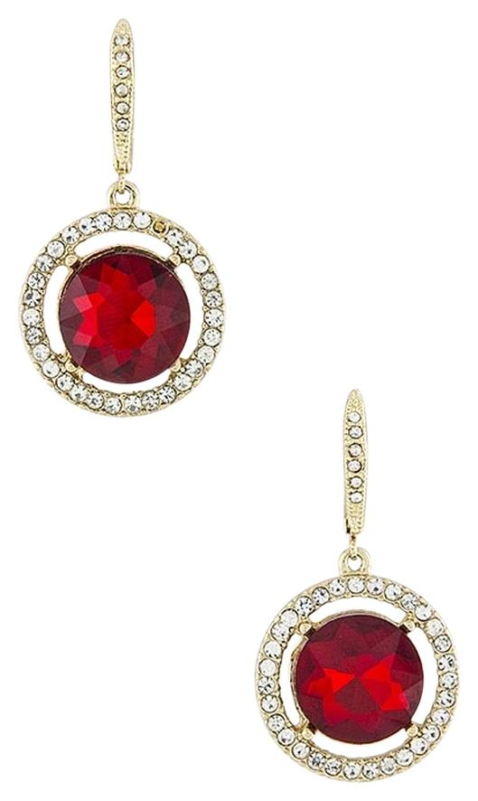 Macy S Red Crystal Clip On Earrings Tradesy