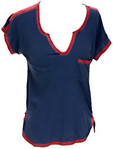 Madewell T Shirt Blue & Red